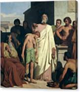 Annointing Of David By Saul Canvas Print