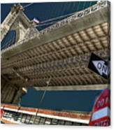 ...another Angle Of Brooklyn Bridge... Canvas Print
