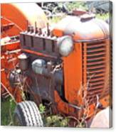 Another Angle Of Old Tractor Canvas Print