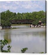 Another Bridge At The Zen Garden Canvas Print