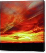 Another Illinois Sunset Canvas Print