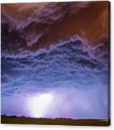 Another Impressive Nebraska Night Thunderstorm 007 Canvas Print