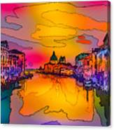 Another Surreal Venice Sunset Canvas Print