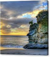 Anse Mamin Rock Formation At Sunset Saint Lucia Caribbean Sunset Canvas Print