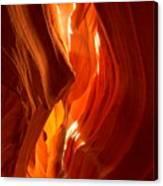 Antelope Canyon Wavy Abstract Canvas Print