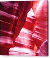 Antelope Slot Canyon Varying Colors From Impinging Sunlight Canvas Print