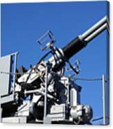 Anti Aircraft Turret Defense Guns On A Navy Ship Canvas Print