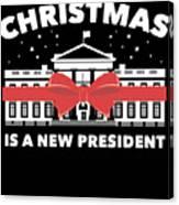 Anti Donald Trump Christmas Edition Vote For Dems Dark Canvas Print