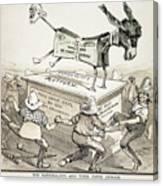 Anti-greenback Cartoon Canvas Print
