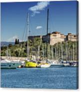 Antibes Fort Carre And Port Vauban  Canvas Print