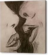 Anticipation Of A Kiss Canvas Print