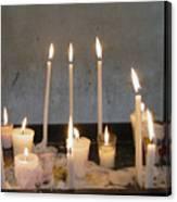 Antigua Church Candles Canvas Print
