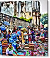 Antigua Market Canvas Print