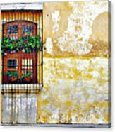 Antigua Window Canvas Print