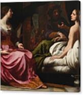 Antiochus Prince Of Syria And Stratonice His Stepmother Canvas Print