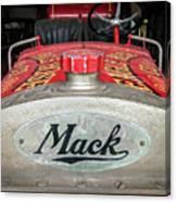 Antique 1930 Mack Bc-cd Fire Truck Canvas Print