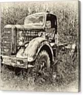 Antique 1947 Mack Truck Canvas Print