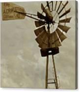 Antique Aermotor Windmill Canvas Print