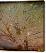 Antique Amber Golden Tree Canvas Print
