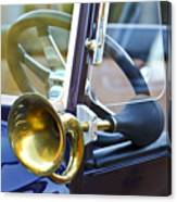 Antique Brass Car Horn Canvas Print