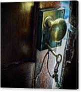 Antique Brass Doorknob Canvas Print