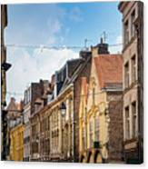 antique building view in Old Town Lille, France Canvas Print
