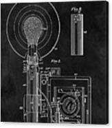 Antique Camera Flash Patent Canvas Print