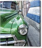 Antique Car And Mural 2 Canvas Print