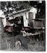 Antique Case Tractor Canvas Print