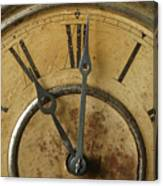 Antique Clock Canvas Print