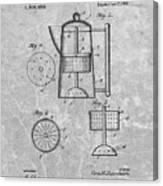 Antique Coffee Percolator Patent Canvas Print