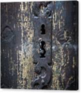 Antique Door Lock Detail Canvas Print