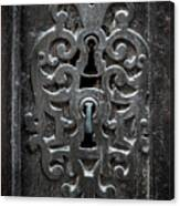 Antique Door Lock Canvas Print