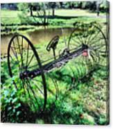 Antique Farm Equipment 3 Canvas Print