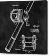 Antique Fishing Reel Patent Canvas Print