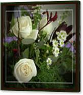Antique Floral Arrangement Framed Canvas Print