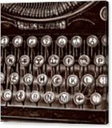Antique Keyboard - Sepia Canvas Print