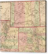 Antique Map - Colton\'s Wyoming Colorado And Utah 1876
