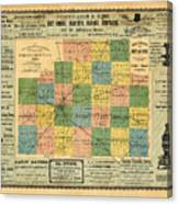 Antique Map Of The Mclean County - Business Advertisements - Historical Map Canvas Print