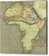 Antique Maps - Old Cartographic Maps - Antique Map Of Africa Canvas Print