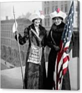 Antique Photo Of Two Women Canvas Print
