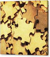 Antique Puzzle Of Missing Links Canvas Print