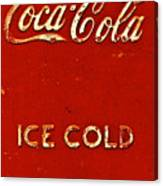Antique Soda Cooler 6 Canvas Print