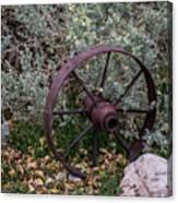Antique Steel Wagon Wheel Canvas Print
