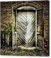 Antique Store Door Canvas Print