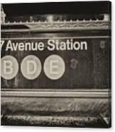 Antique Subway Entrance Canvas Print