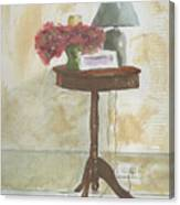 Antique Table Canvas Print