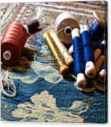 Antique Tapestry Repair  Canvas Print