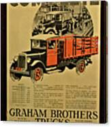 Antique Truck Poster Canvas Print