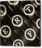 Antique Typewriter Keys Detail Canvas Print